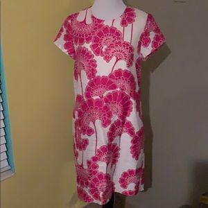 Kate Spade pink and white dress